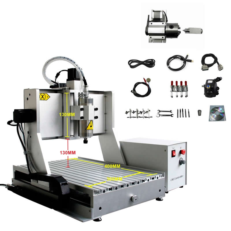 USB port 1500W metal milling CNC machine 3040 mach3 ball screw wood cutting router destop lathe Z axis stroke 130mmUSB port 1500W metal milling CNC machine 3040 mach3 ball screw wood cutting router destop lathe Z axis stroke 130mm