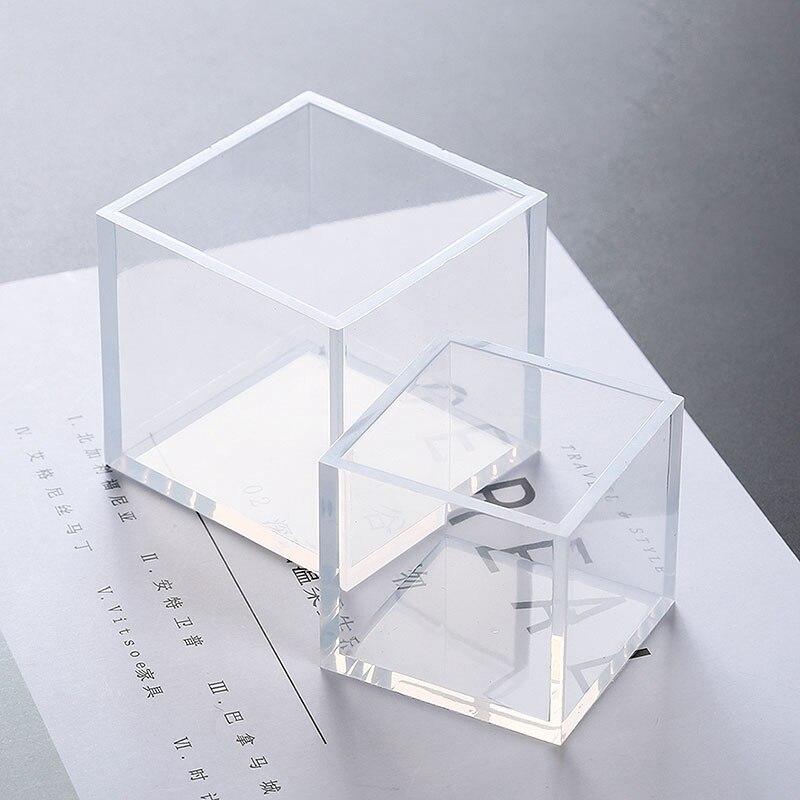 1 Pc A + Qualität 6 Größe 20/25/35/40/50mm Form Transparent Silikon Platz Form Epoxy Harz Formen Für Diy Schmuck Machen Werkzeuge Direktverkaufspreis