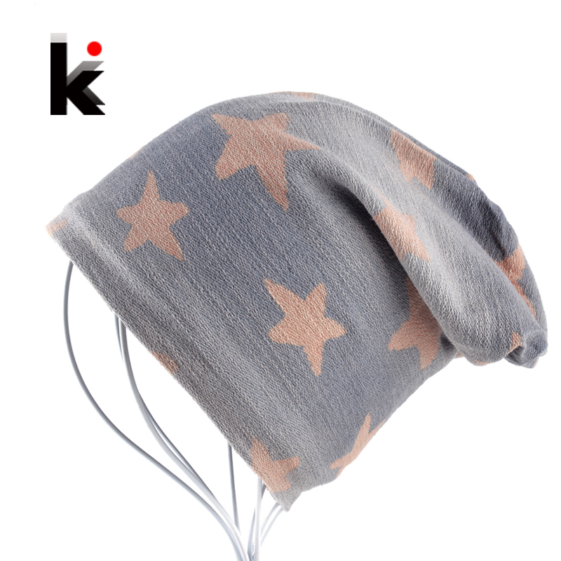 Women Beanies Mens Skullies Bonnet Autumn And Winter Hat Hip Hop Cap Pentagram Beanie Cotton Hats For Men And Women [jamont] love skullies women bandanas hip hop slouch beanie hats soft stretch beanies q3353