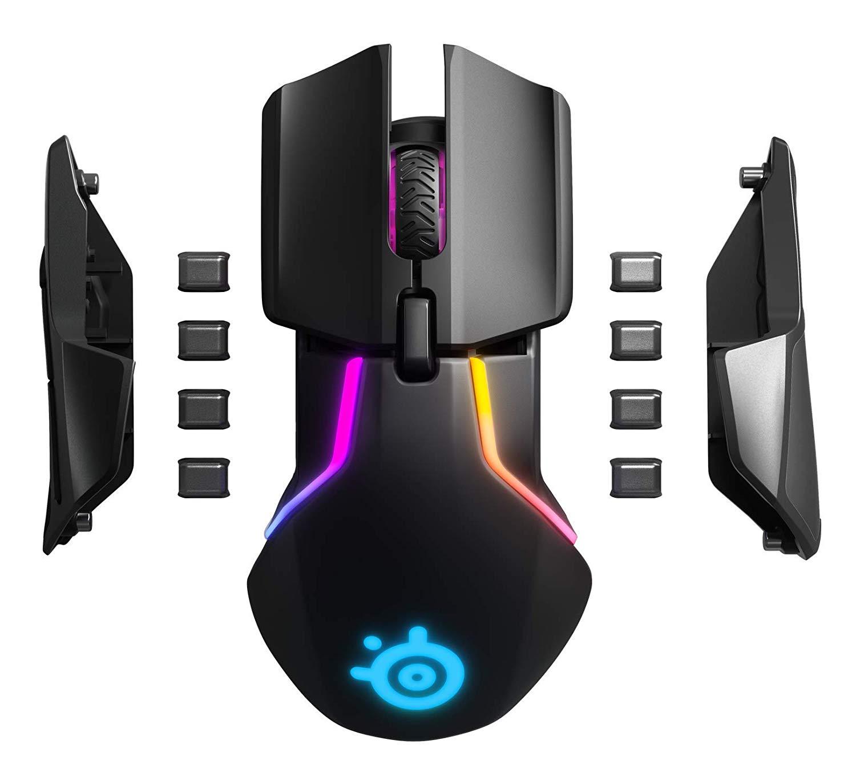 Steelseries Rival 600 Mouse Da Gioco TrueMove3 + Dual Sensore Ottico RGB weightable professionale FPS mouse