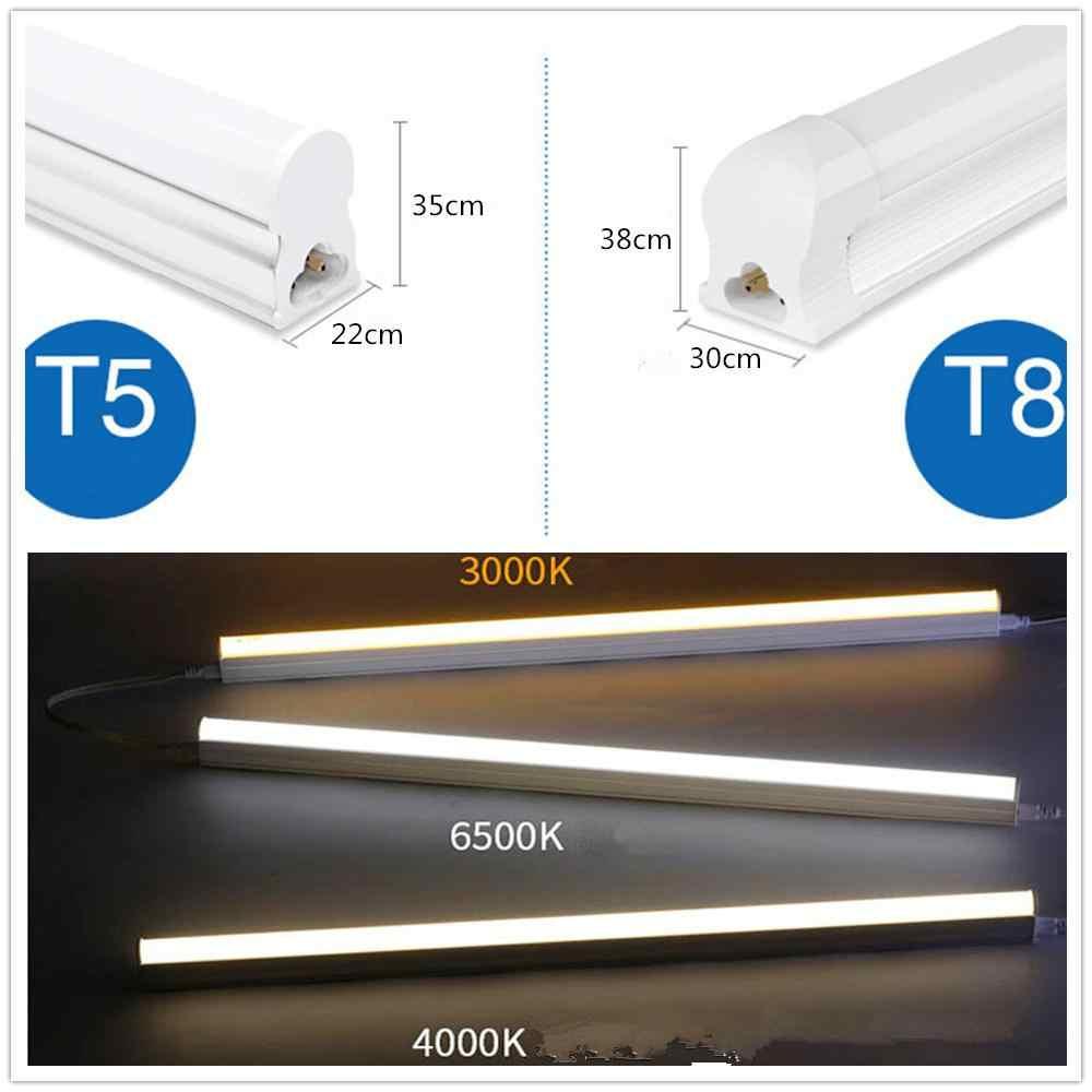 T5 интегрированная 30 см Светодиодная трубка 1ft T5 Светодиодная ламповая лампа светильники 6 Вт 100-240 В Настенные светильники домашний широкий стиль напряжения