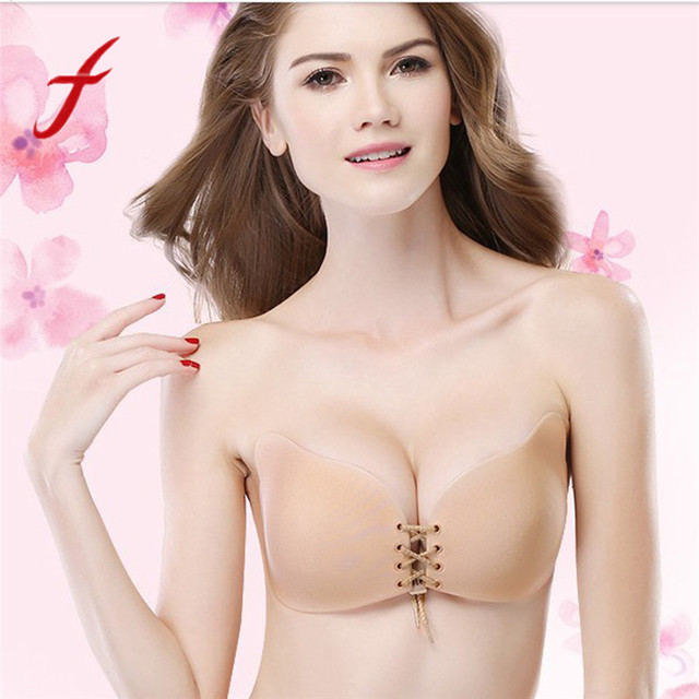 8d2ae1db8bfad Trendy Style Women Sexy Strapless Instant Breast Lift Invisible Silicone  Push Up Mango Bra Invisible Chest Paste Breast  YY