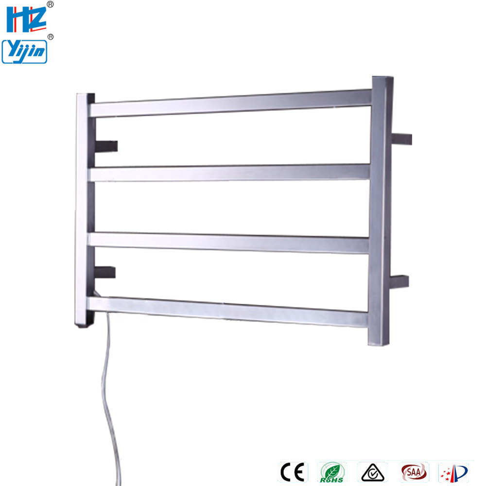 ARE Wall Mount Style Electrical Heated Towel Rack Stainless Steel Towel Drying Rails High Quality Bathroom Towel Warmer TW-RT3
