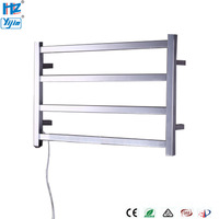 ARE Wall Mount Style Electrical Heated Towel Rack Stainless Steel Towel Drying Rails High Quality Bathroom Towel Warmer TW RT3