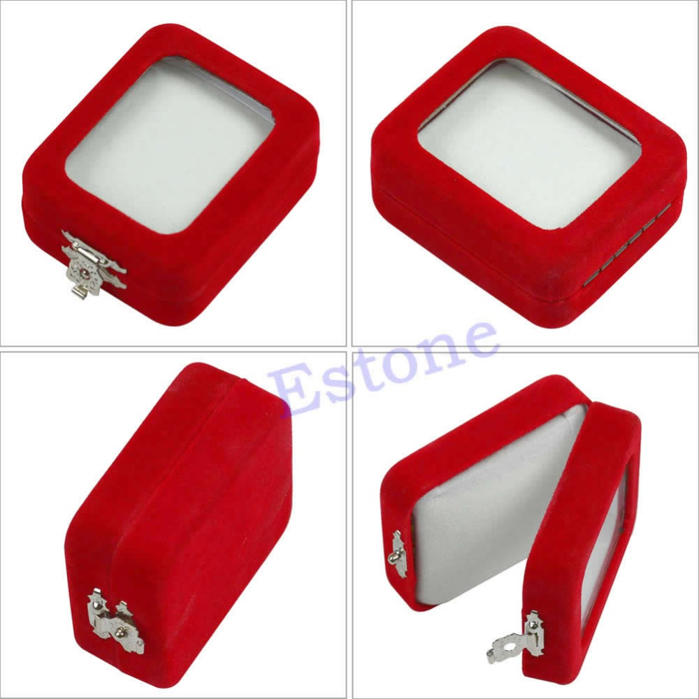 Popular jewelry package boxes buy cheap jewelry package for Red velvet jewelry gift boxes