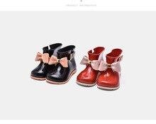 11.8-16.8 cm meninas Inicialização chuva crianças sapatos Arco doce cheiro adorável do bebê todder meninas moda botas antiderrapantes sapatos de água Sapato