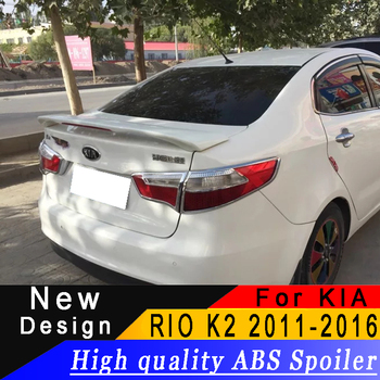 For Kia RIO K2 2011 To 2016 High Quality ABS Material With Brake Light Car Rear Spoiler Primer Or DIY Any Color For KIA