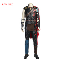 Thor Ragnarok Cosplay Thor Odinson Costume Movie Superhero Cosplay Costume Thor 3 Outfit Halloween Carnival Clothing Cloak Adult