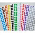 100 точка/лист 1 см Круг Вокруг Цветные Этикетки Dot Стикер Инвентаризации Тег Code