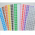 100 dot/sheet   1cm Circle Round Color Coded Label Dot Sticker Inventory Code Tag