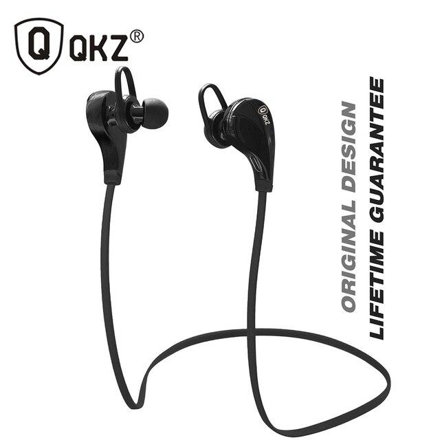 Bluetooth Наушники QKZ G6 Беспроводная Стерео Наушники Мода Спорт Бег canalphones Студия Гарнитуры с Микрофоном