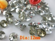 100pcs/lot New Crystal buckle Pack Diamond Button pull buckle 12mm Rhinestone Sofa clothes accessories crafts botoes scrapbook