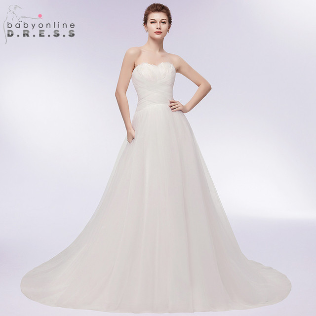 82100fb64d Sexy Backless Feather Bust Ball Gown Wedding Dress Charming Sweetheart Neck  Lace up Bridal Dress Robe