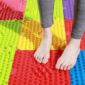 Reflexology Foot Massage Pad Toe Pressure Blood Circulation Mat Pain Relief Foot Massager Acupressure Health Beauty Promote Mats image
