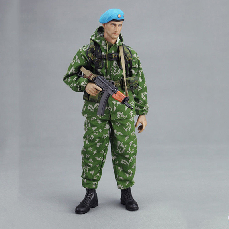 KGB003 1/6 Russian VDV Scout Soldier Limited Clothing Weapon Models Equipment Set For 12 Inches Action Figures 1 6 scale russian vdv scout soldier limited clothing weapon models equipment set for 12 inches action figures
