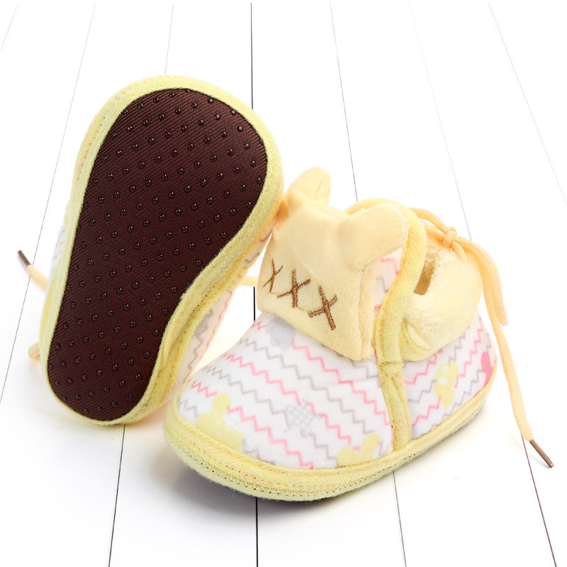 Indoor First Walkers Baby Shoes Cotton Anti-slip Booties Winter Wammer Baby Girl Boy Shoes Newborn Slippers Footwear Booties (40)
