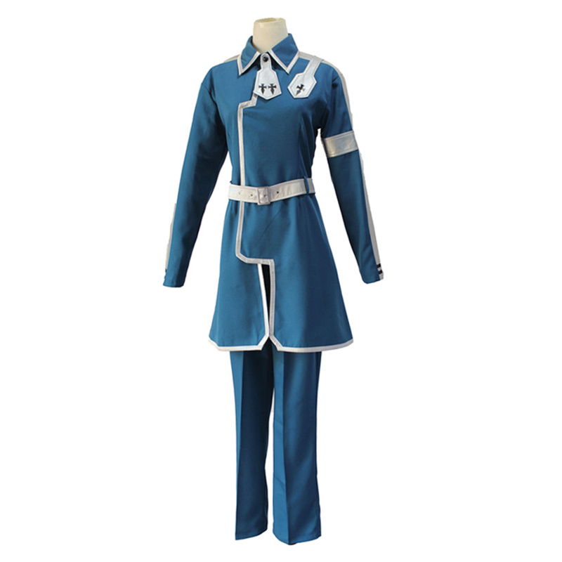 Anime Sword Art Online Alicization Eugeo Synthesis Thirty-two Cosplay Costumes SAO Men Blue Uniform Halloween Party Costume