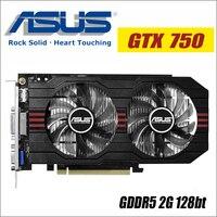 ASUS Video Graphics Card Used Original GTX 750 2GB 128Bit GDDR5 Video Cards For NVIDIA VGA