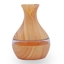 300ml Wood Grain USB Petal Humidifier Purifier Machine Ultrasonic Vase Aromatherapy Fragrance Essential Oil