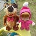 Masha and Bear Toy Doll Russian Language Talking Masha and bear dolls Kids Gift masha e o urso Music Walk Sing and Move Masha