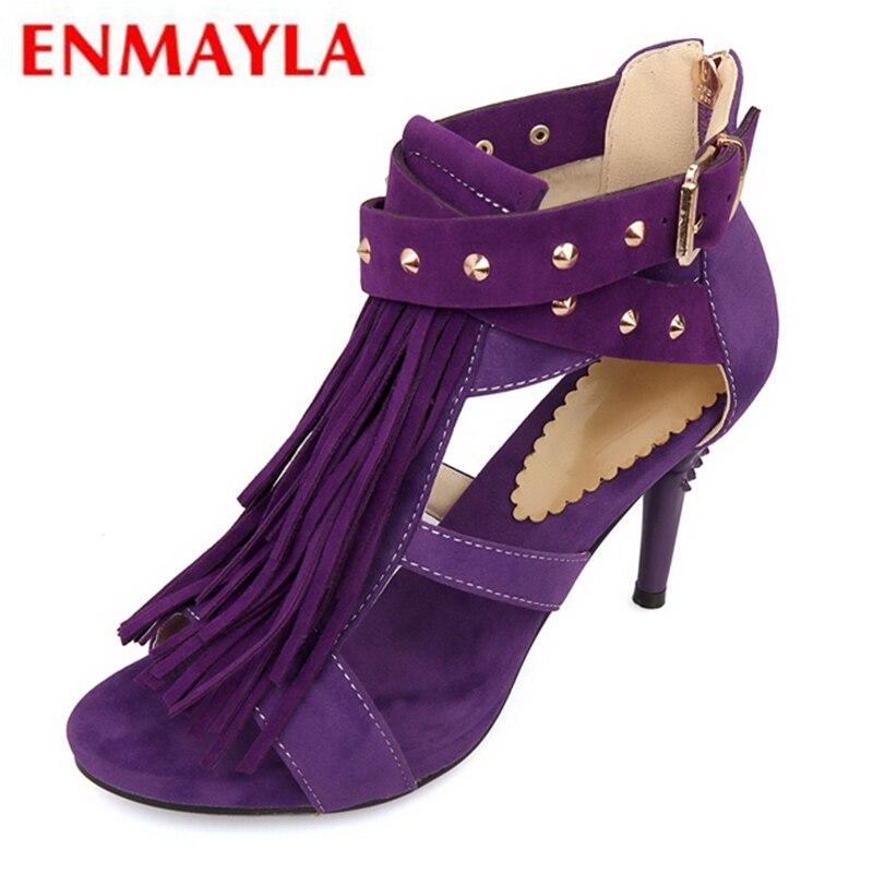 Chaussures Enmayla Taille Black 2019 Femmes Super purple Sandales 43 blue 34 red Mode Grande Ly1041 Troupeau De D'été Base Haute rxqSwgxC