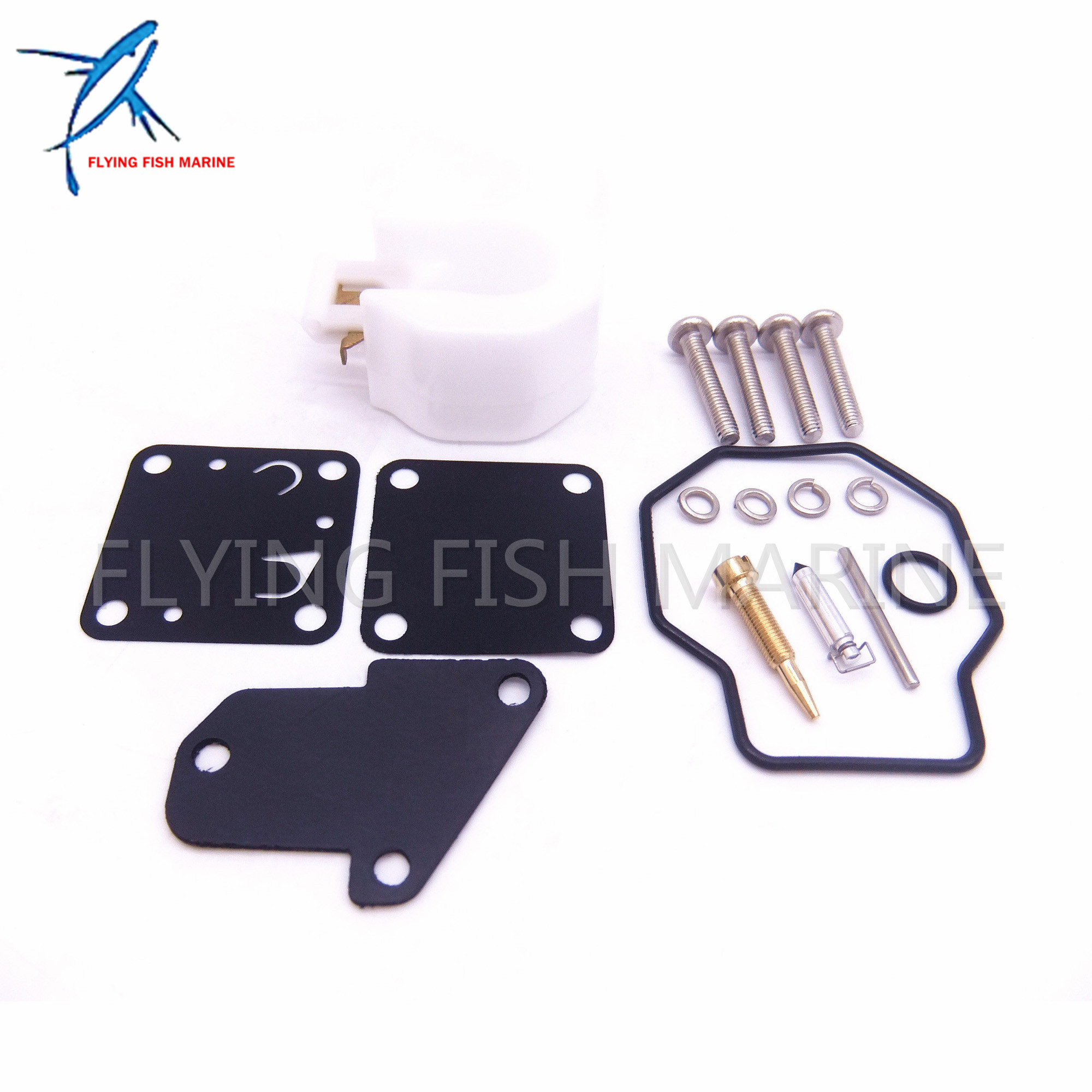 6E3 W0093 Boat Motor Carburetor Repair Kit for Yamaha Outboard Motor 4HP 5HP 4M 5M