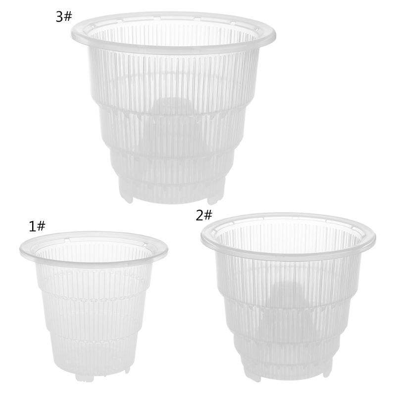 Mesh Pot Plastic Clear Orchid Flower Container Planter Home Gardening Decoration