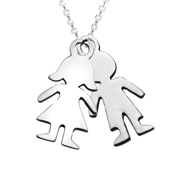 Personalized baby girl boy necklace pendant stainless steel kids personalized baby girl boy necklace pendant stainless steel negle Gallery