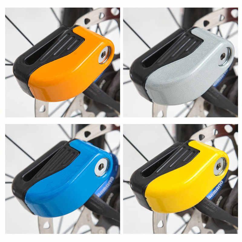 Motorcycle / Bike Disc Brake Alarm Lock Bicycle Fixed Anti Theft Security Lock Electric Bike Scooter Wheel Disc Brake Alarm Lock