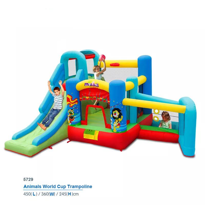 HTB1KqfpPFXXXXcNXpXXq6xXFXXXg - Mr. Fun Animal World Cup Inflatable Trampoline Bounce House with Kids Slide Playhouse with Blower