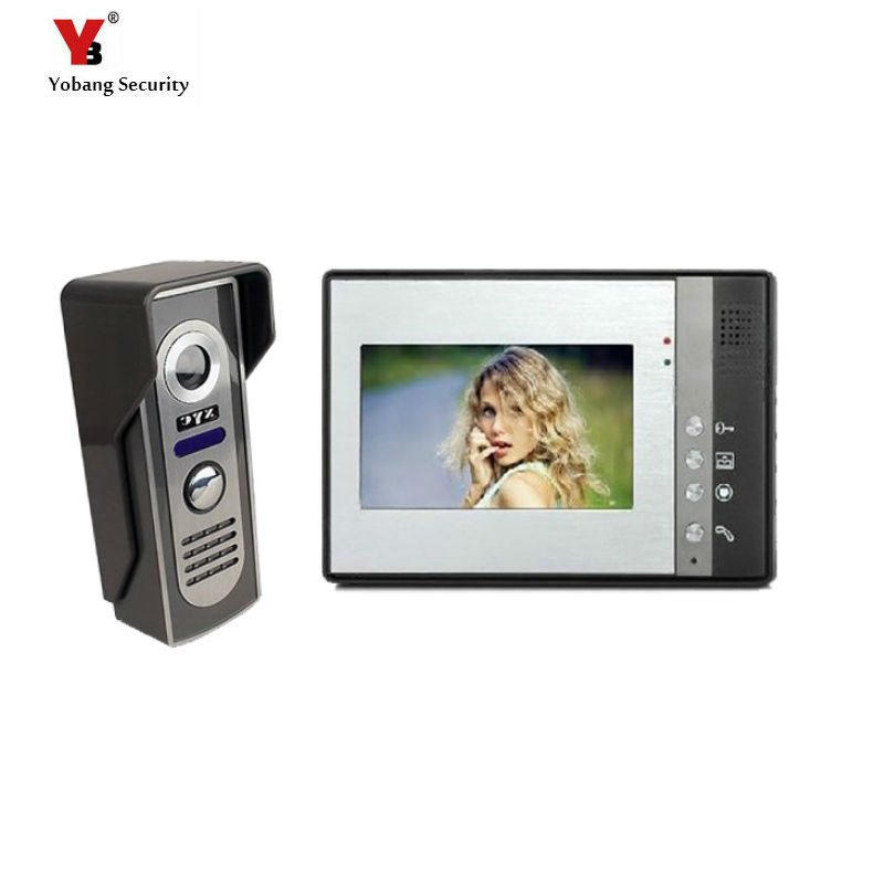 Yobang Security 7 LCD Video Door Phone Video Intercom Doorbell Home Security IR Camera Monitor With Night Vision yobang security 9 inch lcd home security video record door phone intercom system doorbell video monitor for apartment villa