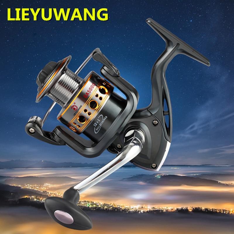 ФОТО German Technology 12+1BB GA1000-7000 Gapless Spinning Fishing Reel Metal Spool Carretilha Pesca Hot For Shimano