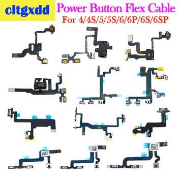 Cltgxdd para iPhone 4 4S 5 5S 5C 6 6S Plus botón de encendido y volumen interruptor de tecla de botón piezas de recambio de cable FLEX