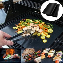 Non-stick BBQ Grill Mat Barbecue Baking Mat Liner Teflon Cooking Grilling Sheet Heat Resistance Easily Cleaned Kitchen Tools(China)