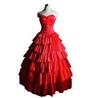 Мария padilha сделать Inferno Star помба gira костюм Красный Корсет Многоуровневое длинная юбка средневековой платье Косплэй костюм с Перчатки