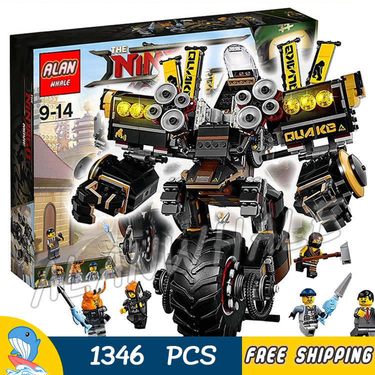 1346pcs Ninja Movie Quake Mech Samurai Robots Mobile Suit 10800 Model Building Blocks Assemble Toys Bricks Compatible With lego lepin 663pcs ninja killow vs samurai x mech oni chopper robots 06077 building blocks assemble toys bricks compatible with 70642
