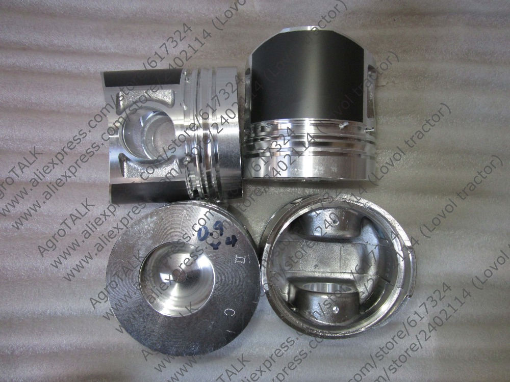 Zhejiang Xinchai A498BT, the set of pistons with piston pins for one engine, part number: quanchai qc4102t52 parts the set of piston and piston rings part number 4102qa 03001