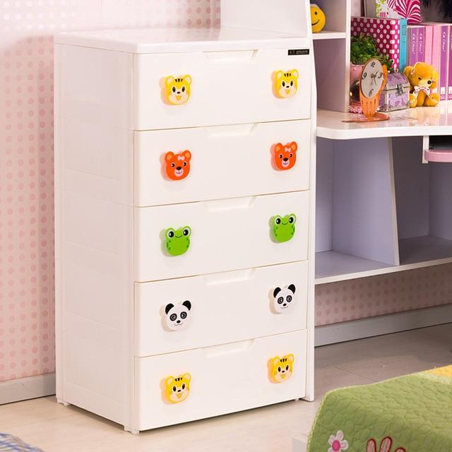 Baby Clothes Drawer Plastic Finishing Cabinet Lockers Toy Storage Cabinets Wardrobe Children