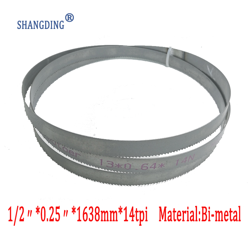 "64-1/2"" (64.5"") x 1/2"" x 14tpi Bimetal metal cutting band saw blade M42 1638mm x 13mm"