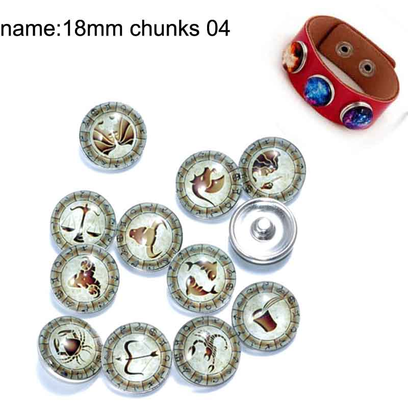 12mm 14mm 16mm 10mm 20mm 25mm 143 12pcs lot Nostalgia Mix Round Glass Cabochons Jewelry Findings 18mm Snap Button Charm Bracelet in Jewelry Findings Components from Jewelry Accessories