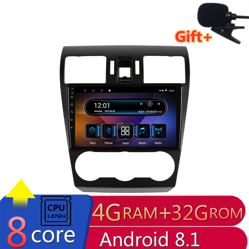 "9"" 4G RAM 8 cores Android Car DVD GPS Navigation For Subaru Forester XV WRX 2013-2018 audio stereo car radio headunit wifi"