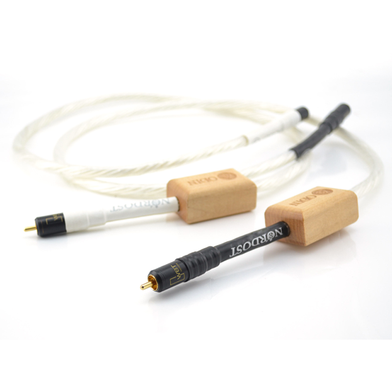 One Pair Nordost Odin Reference75Ohm Digital Coaxial Audio Cable With Gold Plated RCA Plug Cable Digital