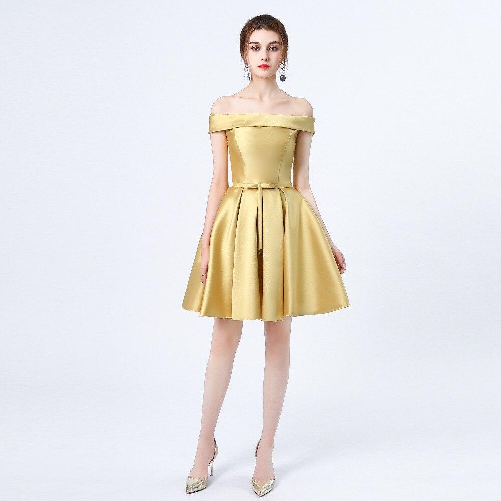 Neue ankunft Gold abendkleid kurze formale abend partei kleider ...