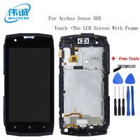 WEICHENG For Archos Sense 50X LCD Display + Touch Screen With Frame 100% Screen Digitizer Assembly +Tools Android 7.0
