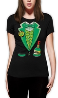 Tee4U Create T Shirt Online Women S Short 100 Cotton Crew Neck Irish Tux Tees