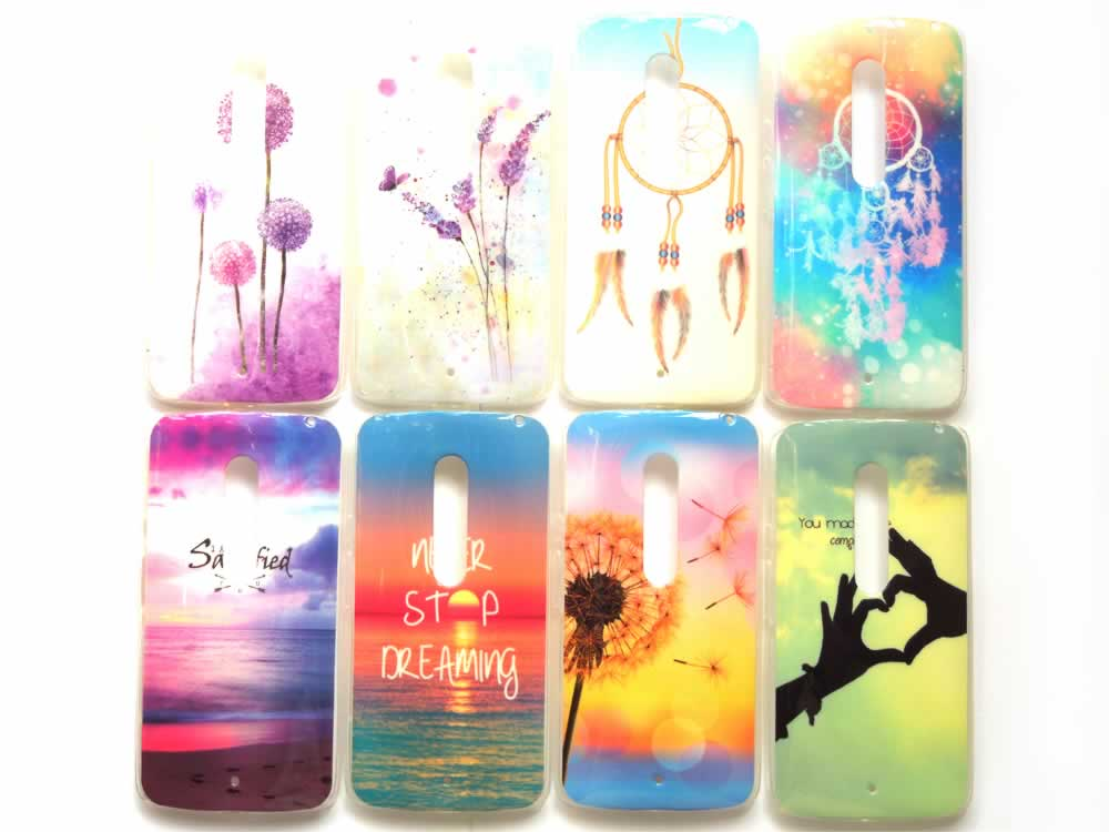 For Motorola Moto X Play Case Silicon Soft TPU Tiger Dreams Flowers Cartoon Colorful IMD Covers for Moto X Play 15 Designs