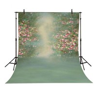 Europe Flower Bokeh Photography Backgrounds High Grade Vinyl Silk Cloth Computer Printed Wedding Backdrops