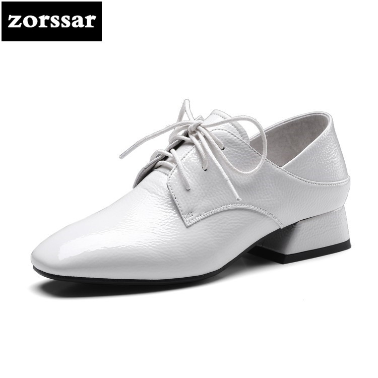 {Zorssar} 2018 new arrival fashion casual womens shoes heels Platform Lace up Square heel High heels pumps ladies low heel shoes zorssar 2018 new fashion buckle genuine leather thick heel womens shoes heels square toe high heels pumps ladies office shoes