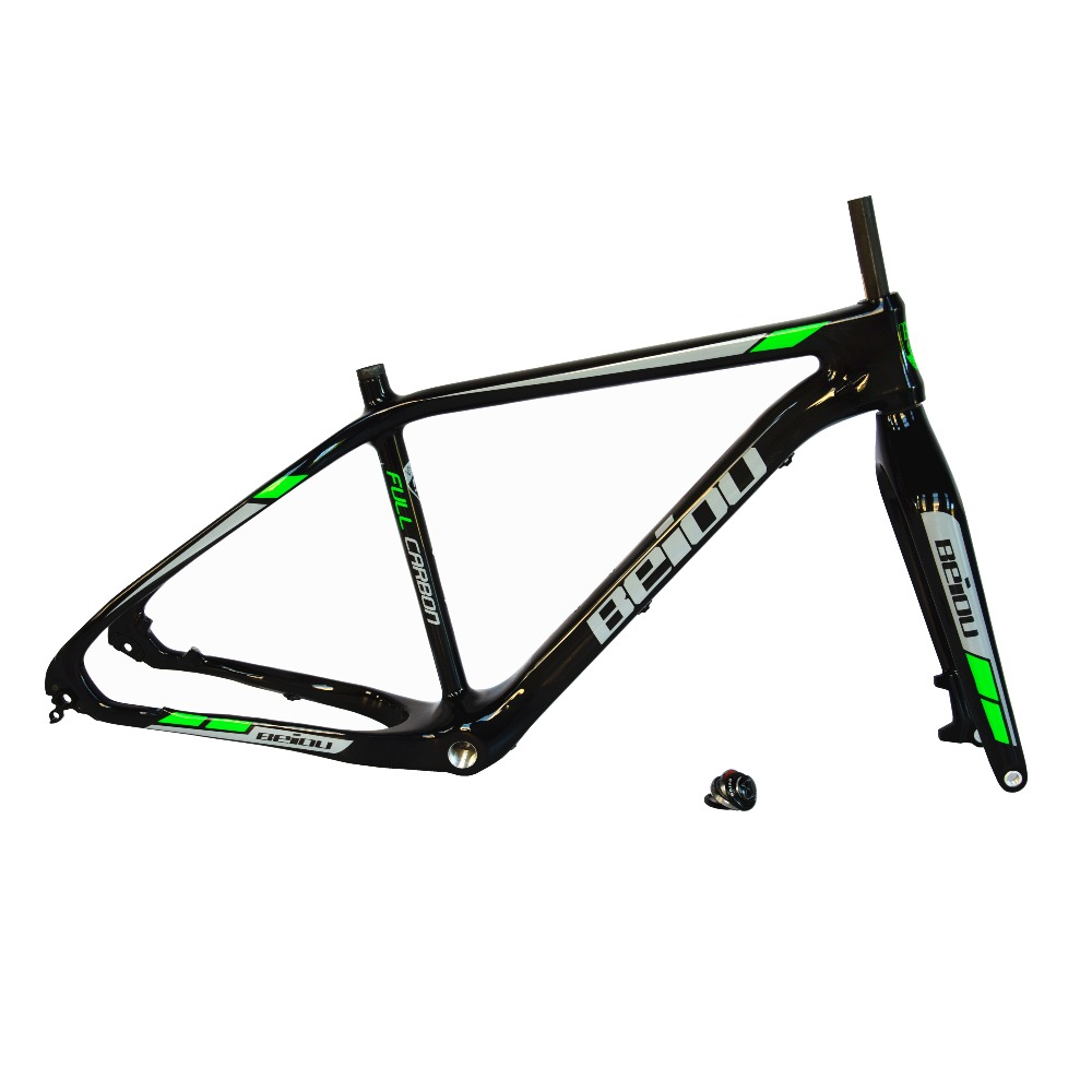Beiou Carbon Fat Bike Frame 19 Inch Internal Cable Routing
