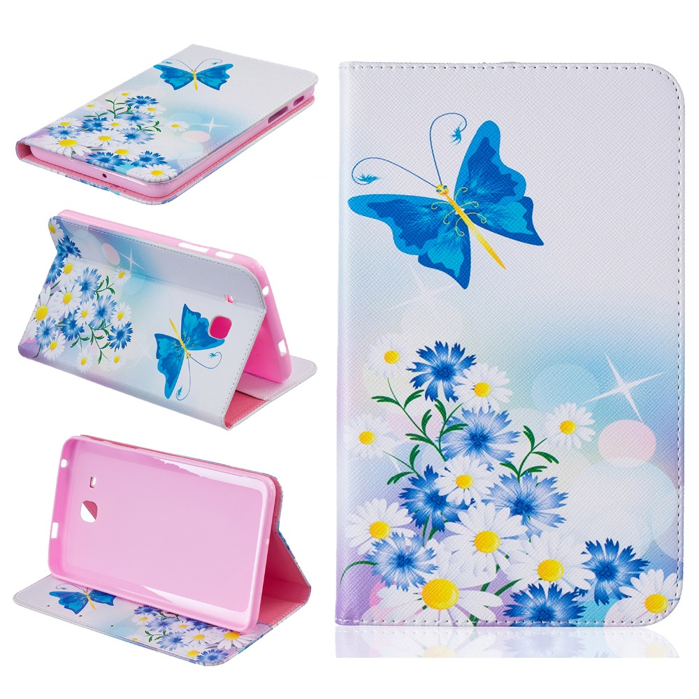 for fundas Samsung T280 T285 Cover Stand Case for coque Samsung Galaxy Tab A 7.0 T280 T285 SM-T280 SM-T285 Case with Card Holder